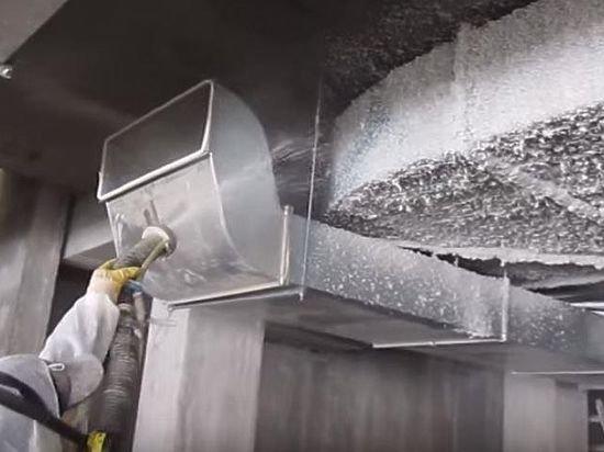 Огнезащита воздуховодов вентиляции на складе