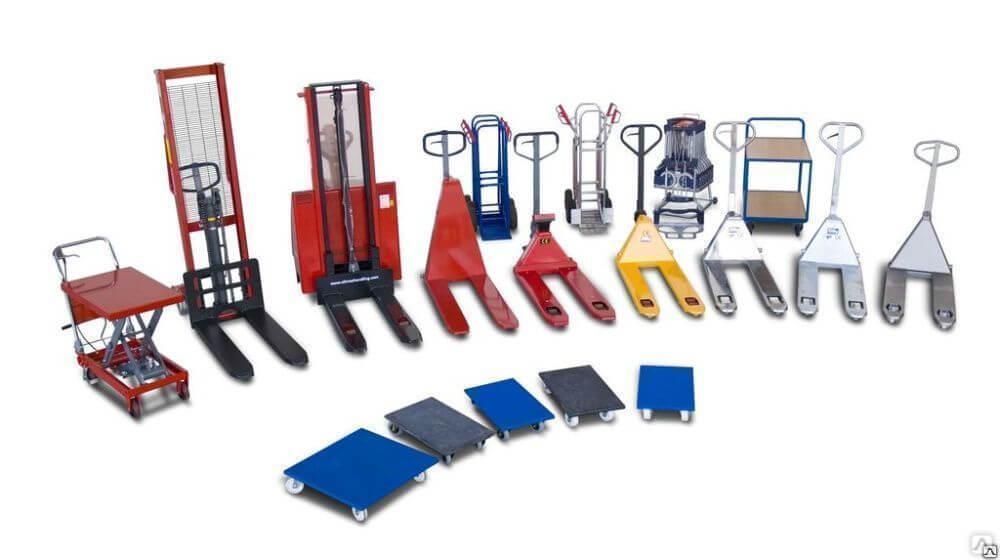 Складские тележки: ручные, платформенные, самоходные, гидравлические (рохли), как выбрать